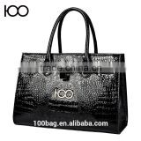 wholesale womens tote bag PU leather messenger bag crocodile pattern Embossing handbag                                                                         Quality Choice