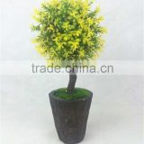 High quality colorful grass ball potted plant artificial plastic bonsai tree