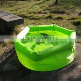 Outdoor portable camping travel folding inflatable water basin