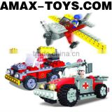 bd-63618407 building block set Plastic intelligent toys brick fire-fighting vehicles 200pcs