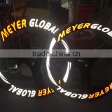 MeyerGlobal Reflective logo Carbon 3 Spokes Wheels Clincher 70mm front rear fixed gear carbon bike tri spoke wheels Taiwan