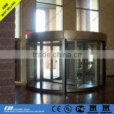Automatic 2 wing Revolving Door from china with discount price with motor sensor security glass aluminum frame