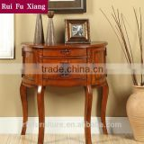 Wood classic console table with classic carving and drawers for hallway furniture AN-203