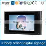 Flintstone 10 inch supermarket equipments remote control tv digital video screen for advertising