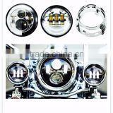 Motorcycle 7 inch Harley Daymaker LED Headlight & 4.5 inch Passing fog Lamps & Adapter Ring for Harley Davidso-n Motorcycles