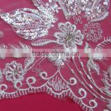 Sequin Net Embroidery Beaded Fabric