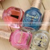 fancy nail polish glass bottle with hot stamping 12ml nail polish bottle glass
