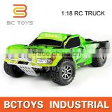 1:18 remote control 2.4G four-wheel drive truck super power monster truck toy with 390 motor.