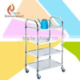 Chinese four layers commercial stainless steel guest room service trolley cart adjustable sizes separated assembled with wheels