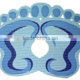 Hot sale pvc foam foot shape bath mat anti-slip bath mat