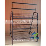3 tiers promotion bulk basket stand from china factory