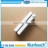 Runtouch RT-M123 White USB swipe 3 tracks msr hico loco magnetic stripe card reader writer