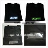 2015 so popular party events flash led light for black T shirt with high quality from China
