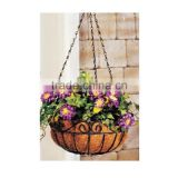 Coco liner outdoor half round balcony hanging basket 2016 metal home & garden planter