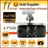 Car Dvr Recorder Car black box H.264 HD1080P video resolution HDMI + 2.7 inch screen + 140 degree lens