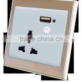 Hot sell power switched usb wall click electrical sockets zigbee wifi wall switch socket
