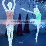 Holiday time decoration beautiful ballet dancer decorative fancy light with high quality fancy motif light for sale