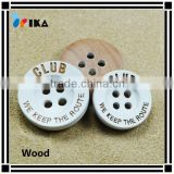 painted color laser engraved logo wooden buttons