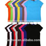 Cheap High Quality Comfortable Multi Color Womens Clothing Blank Mature Ladies T-shirt Cotton Spandex Fitted Fashionable