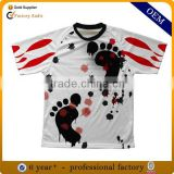 wholesale custom polyester all over print sublimation t shirt, design dry fit full printing sublimated t-shirt