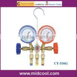 CT-536G brass manifold gauge with sight glass