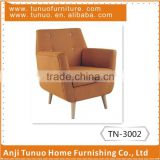 arm sofa,patchwork back with 4 buttons, moveable seat cushion and KD nature rubber wood legs.,TN-3002