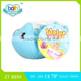 2016 New Item!Eco-friendly PVC big dolphin+4 small dolphin baby bath learning toy ZT8894