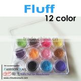New 12 Colors Very Fine Fluff DIY Nail Art Decorations UV gel nails acrylic nail