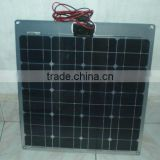 60W RV roof semi flexible mono solar panel