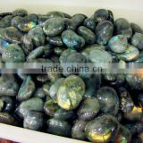 Beautiful gliterring labradorite crystal beads gravel ornament for dress