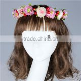 Wholesale Alibaba Hair Wedding Bridal Deisign Flower Wreath Garland Set Hair Accessaries