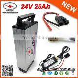 Poweful 25Ah 24V Deep Cycle Battery for E Cycle with Aluminum Waterproof Case