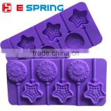 20*10*1cm sun star shapes silicone lollipop molds chocolate candy baking tools cake decorations accessories