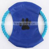 Best selling pet dog frisbee , puppy cat chew throw rope , disc fun flyer training play games toy
