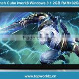 8 Inch Cube iWork8 U80GT Dual Boot Intel Z3735F Quad Core 2GB/32GB Win 8.1+Android 4.4 Tablet PC