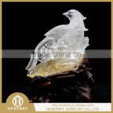 high quality clear quartz crystal bird sculpture good for home decoration or collection fengshui products