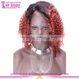 Qingdao Top Beauty Unprocessed Wholesale Virgin Malaysian Hair Afro Kinky Curly Two Tone Color Wig