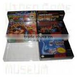 clear protectors box for Nintendo SNES video game