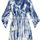 Women's Fashion dress, tie dye printed kaftan, beach wear, beach wrap, tunic, cover up, casual dress