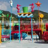 kids and adult family water slide park outdoor playground