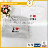 2015 hot sale organic cotton import baby clothes china Soft Cute 100% Cotton Baby Clothes Baby Romper Sets