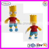 C340 The Simpsons Figure Toys Soft Plush Stuffed Doll Soft Toys Simpson