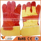 YIWU Market Cow Split mens cheap Leather Gloves Safety Protection Welding Work Gloves factory price