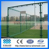Plastic coated PVC chain link fence (factory)