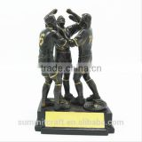 Custom resin football trophy champions league trophy