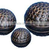 Metal Decorative Balls , hammered pattern Set of 3 sizes