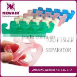 Professional High Quality nail soft form toe separator and silicone finger spacer for Nails.