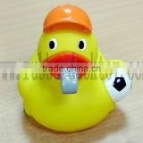 floating football referee rubber duck , soccer judge bath duck , plastic umpire rubber duck toy