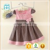 lovely baby girl dresses pink cap sleevess baby princess dress cutting