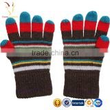 Striped Cheap Knit Children Gloves Kids Hand Gloves